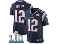 Mens Women Youth New England Patriots #12 Tom Brady Blue 2018 Super Bowl Lii Bound Vapor Untouchable Limited Jersey