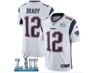 Mens Women Youth New England Patriots #12 Tom Brady White 2018 Super Bowl Lii Bound Vapor Untouchable Limited Jersey