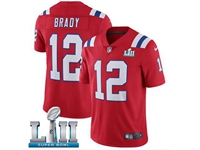 Mens Women Youth New England Patriots #12 Tom Brady Red 2018 Super Bowl Lii Bound Vapor Untouchable Limited Jersey