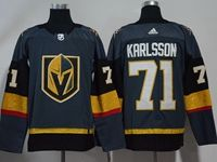 Mens Women Youth Nhl Vegas Golden Knights #71 William Karlsson Gray Adidas Jersey