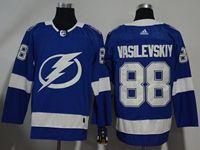 Mens Nhl Tampa Bay Lightning #88 Andrei Vasilevskiy Blue Home Breakaway Player Adidas Jersey