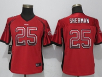 Women Nfl San Francisco 49ers #25 Richard Sherman Red Drift Fashion Elite Nike Jersey