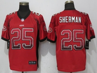 Mens Nfl San Francisco 49ers #25 Richard Sherman Red Drift Fashion Elite Nike Jersey
