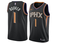 Mens Nba Phoenix Suns #1 Devin Booker Black Statement Edition Swingman Nike Jersey