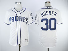 Mens Majestic San Diego Padres #30 Eric Hosmer White Flex Base Jersey