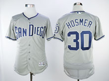 Mens Majestic San Diego Padres #30 Eric Hosmer Gray Flex Cool Base Jersey
