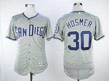 Mens Majestic San Diego Padres #30 Eric Hosmer Gray Flex Cool Base Jersey