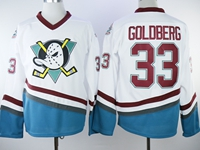 Mens Nhl Anaheim Mighty Ducks #33 Goldberg White Jersey