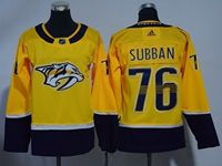 Women Youth Nhl Nashville Predators #76 P. K. Subban Gold Adidas Jersey