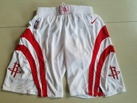 Mens Nba 2017-18 Season Houston Rockets White Shorts