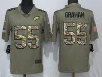 Mens Philadelphia Eagles #55 Brandon Graham Green Olive Camo Carson 2017 Salute To Service Limited Jersey