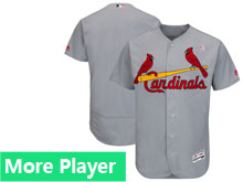 Mens Majestic St.louis Cardinals Gray 2018 Mother's Day Home Flex Base Team Jersey