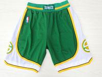 Mens Nba Adidas Seattle Supersonics Green Mesh Shorts