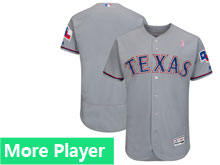 Mens Majestic Texas Rangers Gray 2018 Mother's Day Home Flex Base Team Jersey