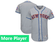 Mens Majestic New York Mets Gray 2018 Mother's Day Home Flex Base Team Jersey