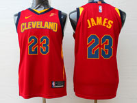 Youth Nba Cleveland Cavaliers #23 Lebron James Red Swingman Nike Jersey