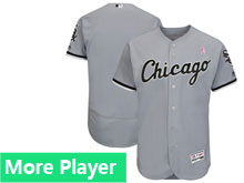 Mens Majestic Chicago White Sox Gray 2018 Mother's Day Home Flex Base Team Jersey