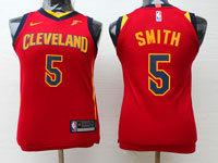 Youth Nba Cleveland Cavaliers #5 Jr Smith Red Swingman Nike Jersey