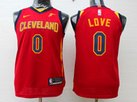 Youth Nba Cleveland Cavaliers #0 Kevin Love Red Swingman Nike Jersey