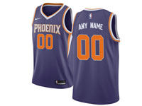 Mens Nba Phoenix Suns Custom Made Purple Road Nike Jersey