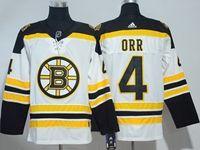 Mens Nhl Boston Bruins #4 Bobby Orr White Adidas Jersey