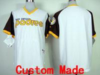 Mens Mlb San Diego Padres Custom Made 1978 Turn Back Throwbacks Jersey