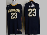 Mens 2017-18 Nba New Season New Orleans Pelicans #23 Anthony Davis Dark Blue Nike Jerseys