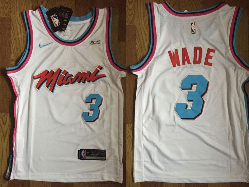 ... wholesale mens nba miami heat 3 dwyane wade white nike vice uniform city  edition swingman jersey 5ac778687