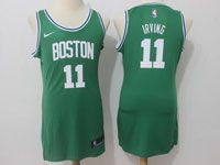 Women Nba Boston Celtics #11 Kyrie Irving Nike Green Jersey