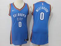 Women Nba Oklahoma City Thunder #0 Russell Westbrook Nike Blue Jersey