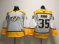 Women Youth Nhl Nashville Predators #35 Pekka Rinne White Adidas Jersey