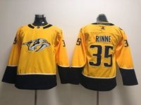 Women Youth Nhl Nashville Predators #35 Pekka Rinne Gold Adidas Jersey