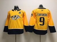 Women Youth Nhl Nashville Predators #9 Filip Forsberg (a) Gold Adidas Jersey