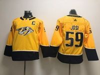 Women Youth Nhl Nashville Predators #59 Roman Josi (c) Gold Adidas Jersey