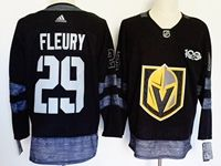 Mens Nhl Vegas Golden Knights #29 Marc-andre Fleury 100th Anniversary Black Adidas Jersey