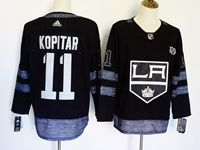 Mens Nhl Los Angeles Kings #11 Anze Kopitar 100th Anniversary Black Adidas Jersey