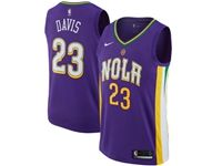 Mens Nike Nba Season New Orleans Pelicans #23 Anthony Davis Purple City Jerseys