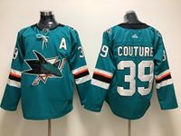 Mens Adidas Nhl San Jose Sharks #39 Logan Couture Green Home Jersey