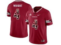 Mens Nike Ncaa Arkansas Razorbacks #4 Wright Red Jersey
