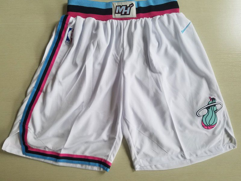 Nba Nike Miami Heat White City Edition Shorts