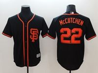 Mens Mlb San Francisco Giants #22 Andrew Mccutchen Black Cool Base Player Jersey