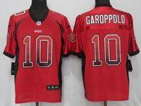 Mens Nfl San Francisco 49ers #10 Jimmy Garoppolo Red Drift Fashion Elite Nike Jersey