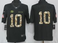 Mens Nfl San Francisco 49ers #10 Jimmy Garoppolo Anthracite Salute To Service Nike Limited Jersey