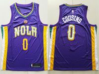 Mens Nike Nba New Orleans Pelicans #0 Demarcus Cousins Purple City Swingman Jersey
