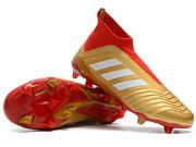 Adidas Predator 18 Fg Football Shoes Red And Gold Colour