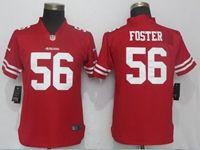 Women Nfl San Francisco 49ers #56 Reuben Foster Red Vapor Untouchable Limited Player Jersey