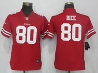Women Nfl San Francisco 49ers #80 Rice Red Vapor Untouchable Limited Player Jersey