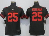 Women Nfl San Francisco 49ers #25 Richard Sherman Black Vapor Untouchable Limited Player Jersey