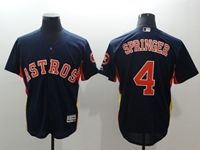 Mens Mlb Houston Astros #4 George Springer Navy 2018 Gold Program Flex Base Jersey