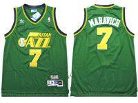 Mens Nba Utah Jazz #7 Pete Maravich Green Adidas Mesh Hardwood Classics Jersey